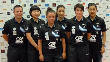 L'équipe féminine 2015 Quimper Cornouaille Tennis de Table