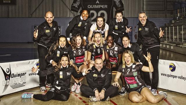 L'équipe féminine 2015 du Quimper Volley
